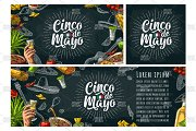 Cinco de Mayo lettering and mexican