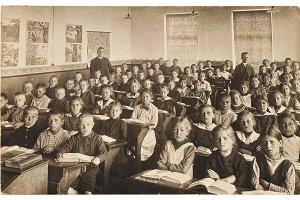 Children in the school classroom
