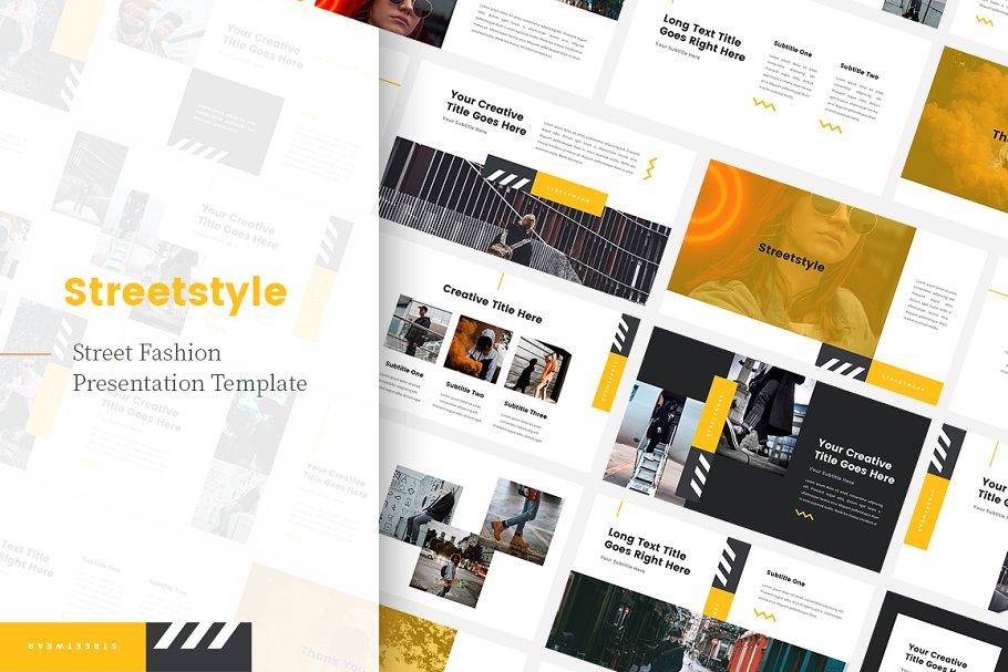 Streetstyle Streetwear Keynote ~ Keynote Templates