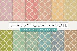 Shabby Quatrafoil Digital Textures
