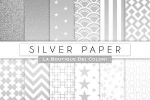 Silver Paper Digital Papers