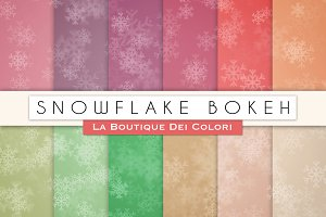 Snowflake Bokeh Digital Papers