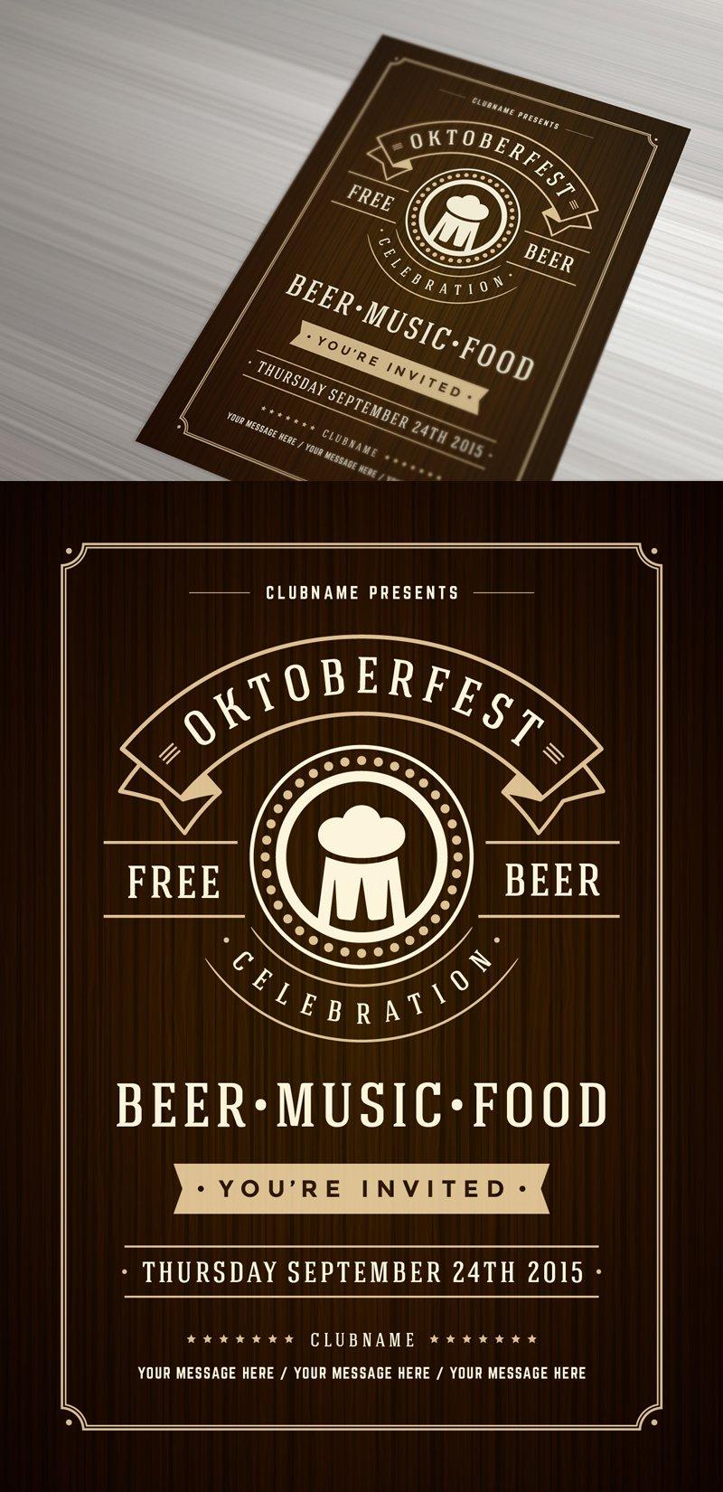 Oktoberfest Poster Or Flyer Templates Creative Market
