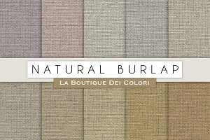 Natural Burlap Digital Papers