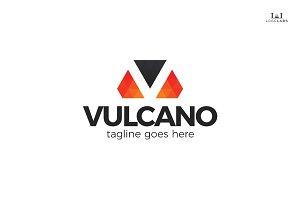Vulcano - Letter V Logo
