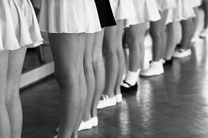 Little dancers at the barre