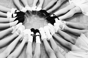 Little dancers legs in a circle