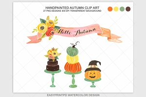 Autumn Fall Halloween Clip Art