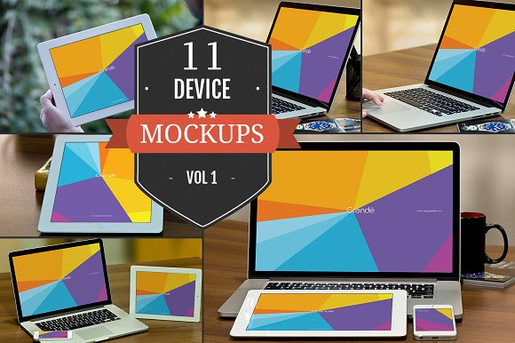 Apple Device PSD Mockups Vol. 1 - Product Mockups