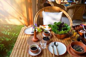 Healthy eating style breakfast