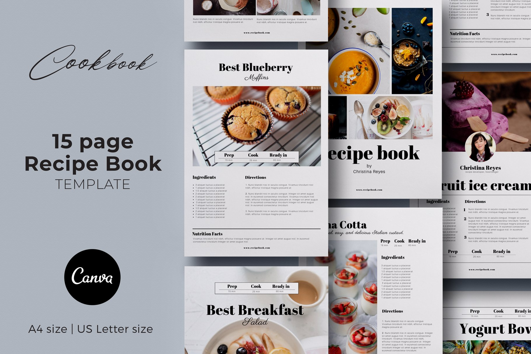 Cookbook Page Template from images.creativemarket.com
