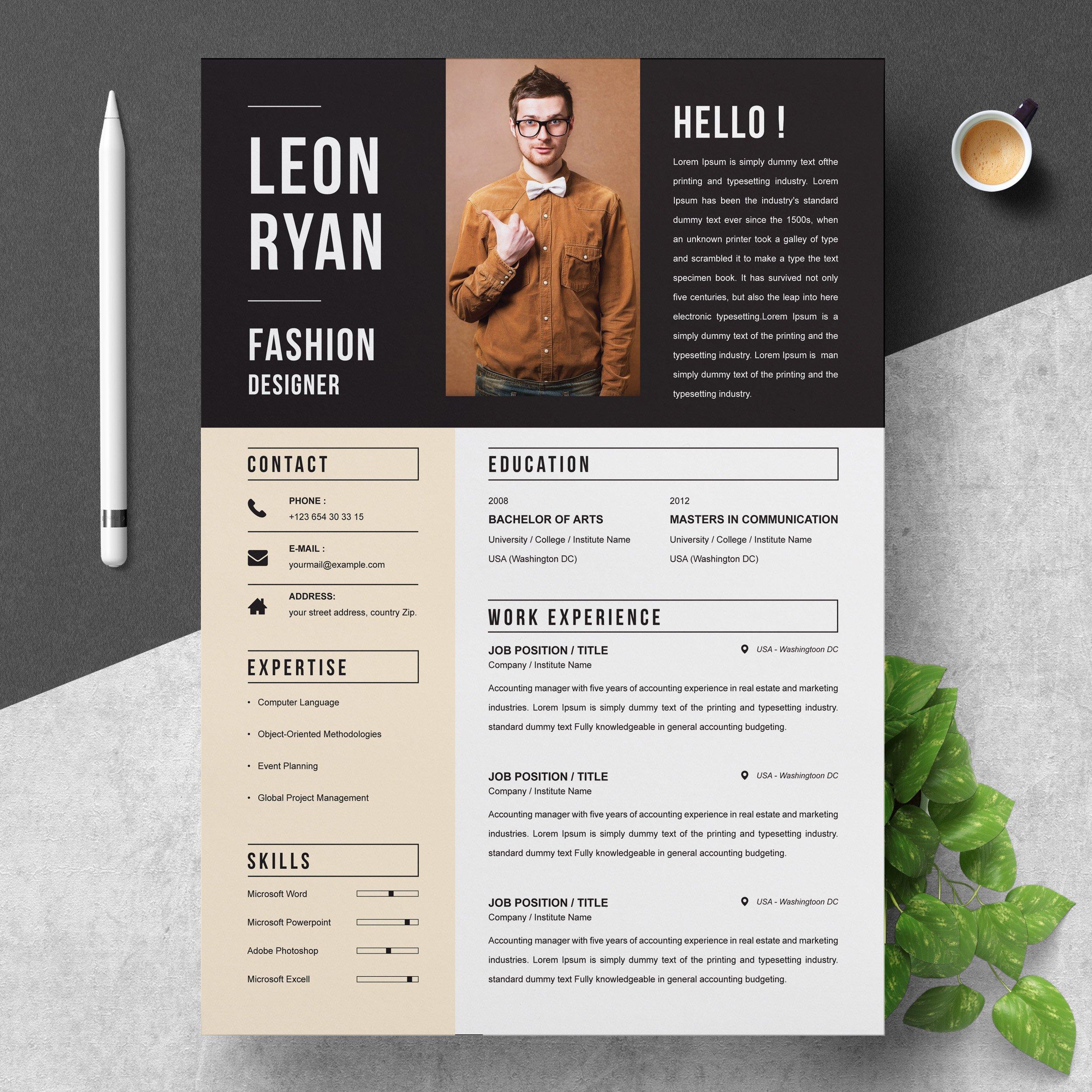 Bold Resume Template ~ Resume Templates ~ Creative Market