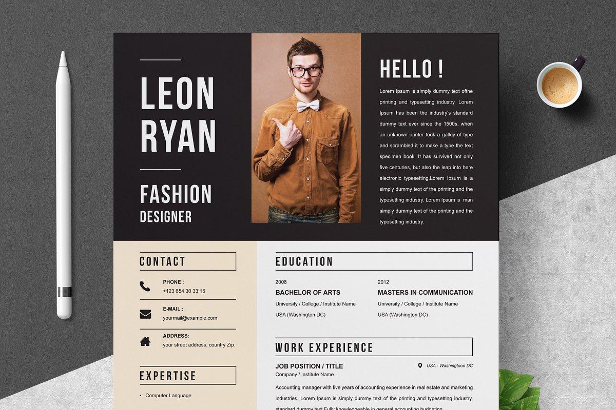 Bold Resume Template Resume Templates Creative Market