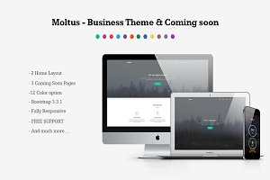 Moltus - Onepage & Coming Pages