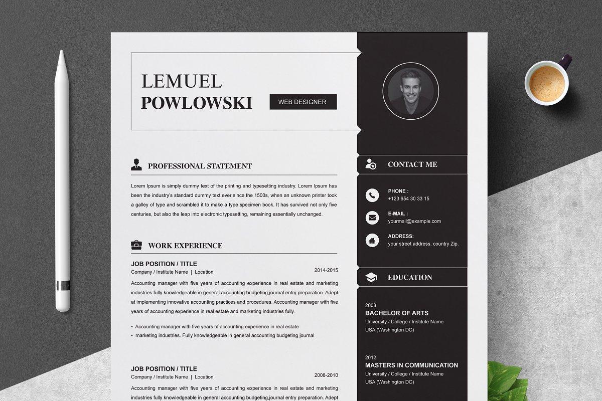 Professional Resume Template / CV ~ Resume Templates ...