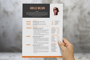 Neat photo Word resume cover letter