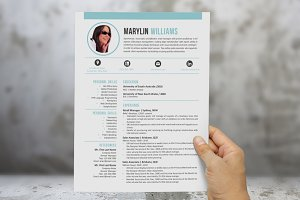 Creative 2 in 1 Word resume