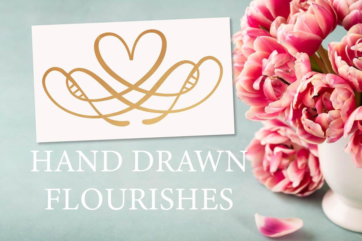 Spring Flourishes - Ornament Font