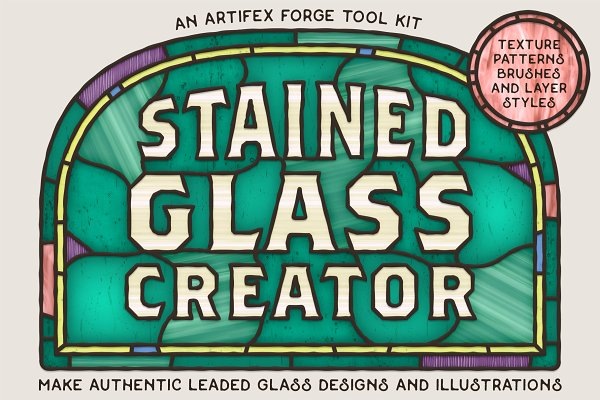 Photoshop Layer Styles: The Artifex Forge - Stained Glass Creator