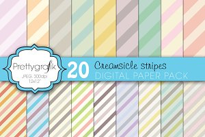pastel stripes digital paper
