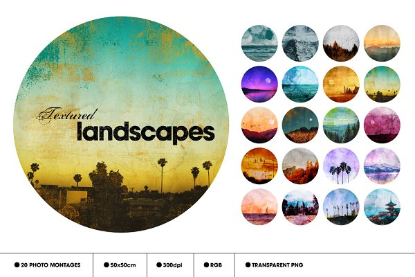 Textures: Offset - Textured Landscapes - 20 Items