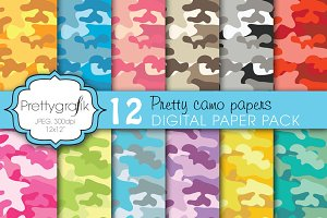 camouflage digital paper, commercial