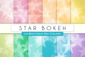 Star Bokeh Digital Papers