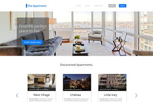 The Apartment - PSD Website Template