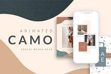 ANIMATED Camo Social Media Pack by  in Social Media