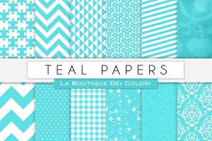 Teal Digital Papers