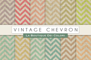 Vintage Chevron Digital Papers