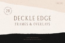 Deckle Edge Frames & Overlays Vol. I by  in Textures