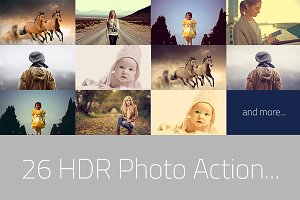 26 HDR Photo FX - Photoshop Action