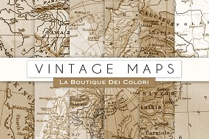 Vintage Map Digital Papers