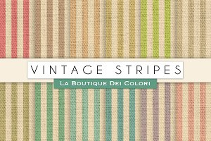 Vintage Stripes Digital Paper