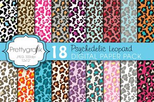 leopard animal print digital paper