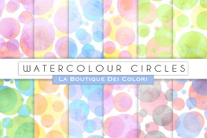 Watercolour Circles Digital Papers