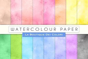 Watercolour Digital Papers