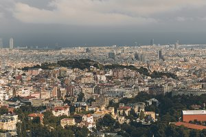 Panoramic cityscape of Barcelona