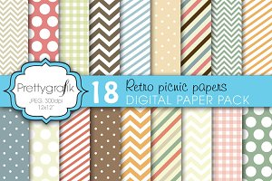 bright colors digital paper