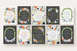 Watercolor Blooms Wedding Collection