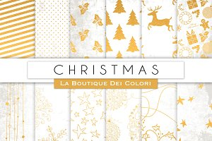 White & Gold Christmas Papers