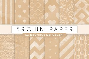 Brown Chalk Digital Paper