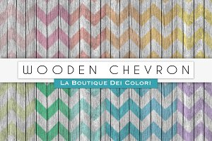 Wooden Chevron Digital Papers