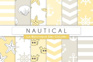 Yellow & Grey Nautical Papers