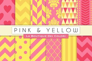 Pink & Yellow Digital Papers