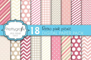 18 bright colors digital paper