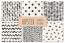 Hipster Seamless Patterns Set 1