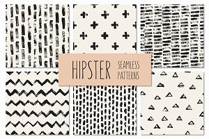 Hipster Seamless Patterns Set 1