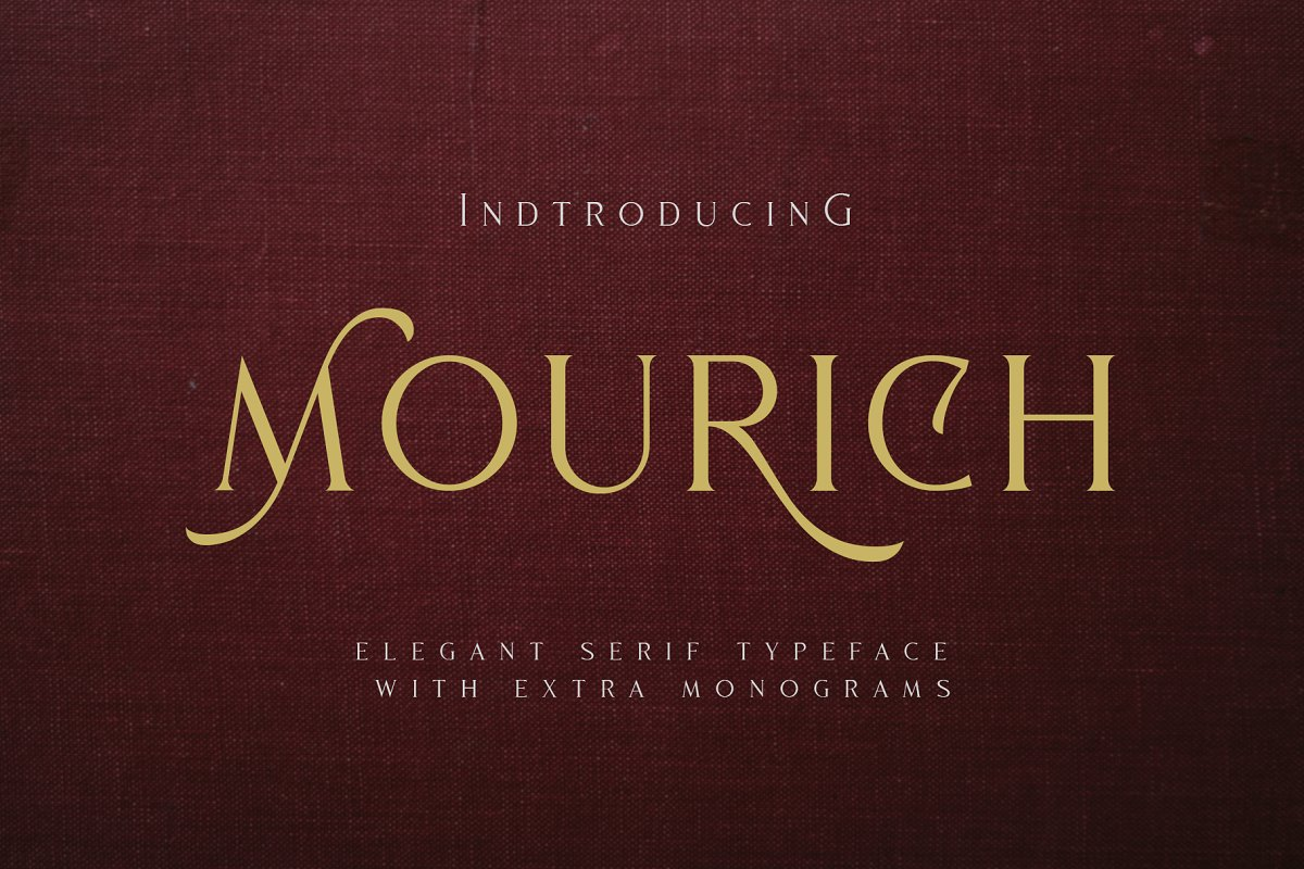 Mourich Elegant Font | With Extra ~ Serif Fonts ~ Creative Market